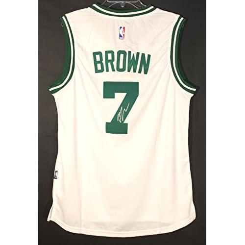 meet 28627 0eb64 Jaylen Brown Boston Celtics Signed Autographed White #7 ...
