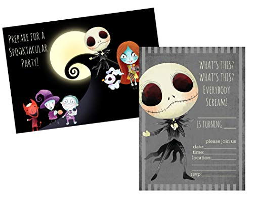(Silly Goose Gifts Nightmare Before Christmas Birthday Party Baby Shower Invite Decor Supply Stickers Favor (Party Invite))