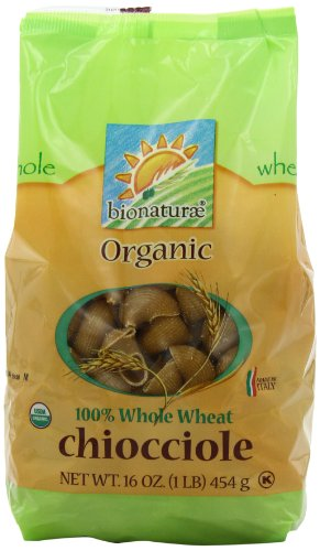 bionaturae Organic Whole Wheat Chiocciole, 16-Ounce Bags (Pack of 6)