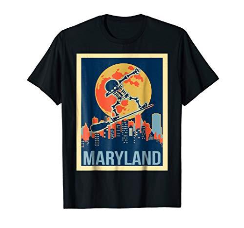 Dabbing Skeleton maryland halloween shirt for $<!--$16.99-->
