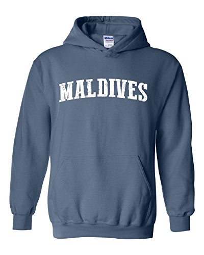 Ugo What to do in Maldives? Travel Time Flag Map Guide Flights Top 10 Things To Do Unisex Hoodie Sweatshirt