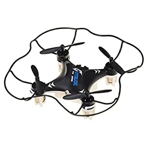 Annong RC Quadcopter of 6 Axis Gyro 2.4GHz 3D RC Remote Control Quadcopter Lighting Mini Aircraft (Black)