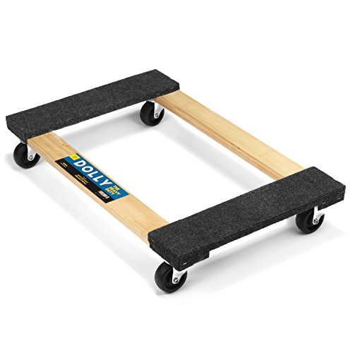 Heavy Duty Moving Dolly 1000LB Capacity Soft Carpeted Moving Dolly (30'' x 18'' x 5.5'')(1000LB)
