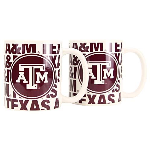 Boelter NCAA Collegiate 12oz Team Logo Coffee Mug 2-Pack (Texas A&M Aggies (Hype))