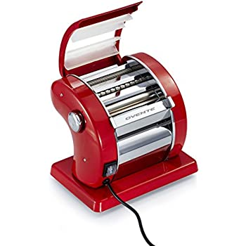Ovente Revolutionary Electric Pasta Maker, 150mm, Metallic Red (PA815R)