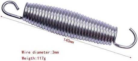 1pc // 10pcs 10-18cm Remplacement en Acier /à Ressort for Circulaire Trampoline Mod/èle Kits de Construction NO LOGO LM-Ressort Total Length Size : 178mm