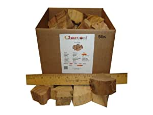 CharcoalStore Pecan Smoking Wood Chunks - No Bark (20 Pounds)