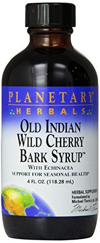 Planetary Herbals Old Indian Wild Cherry Bark Syrup, 4 Fluid Ounce by Planetary Herbals