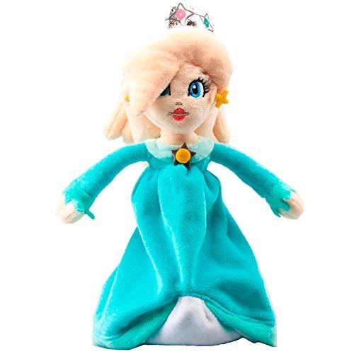 WAREHOUSEDEALS Inspired by Super Mario Bros Princess Rosalina 7.5 Inch Anime Stuffed Plush Kids Toys -