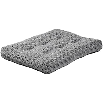 Plush Pet Bed | Ombré Swirl Dog Bed & Cat Bed | Gray 23L x 18W x 1.75H Inches for Small Dog Breeds