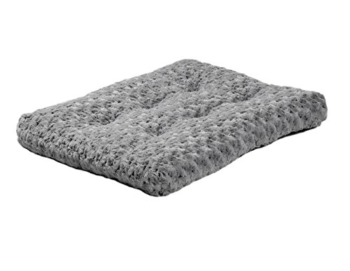 - Plush Pet Bed | Ombré Swirl Dog Bed & Cat Bed | Gray 23L x 18W x 1.75H -Inches for Small Dog Breeds