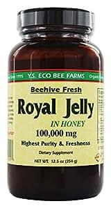 YS Organic Bee Farms - Royal Jelly In Honey Beehive Fresh 100000 mg. - 12.5 oz.