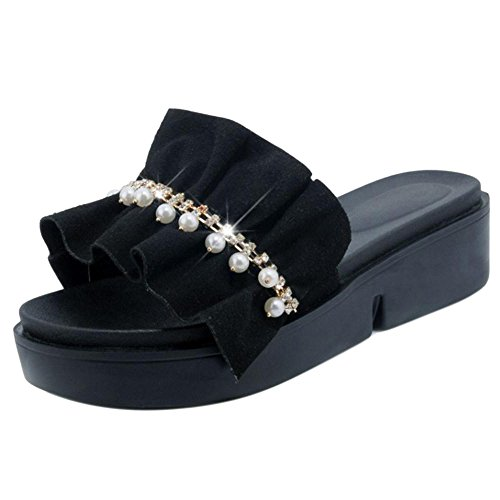 Women VulusValas Black Shoes Sole Thick Mules 4qwZSq