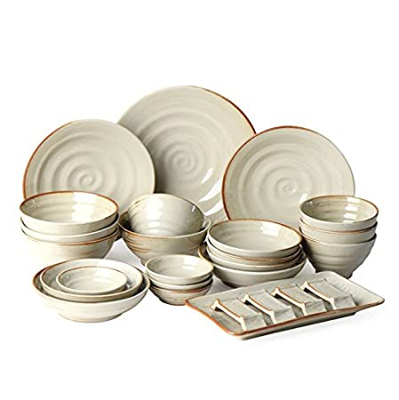 nicetoday Buncheong ware Korean Ceramic Tableware Set(26p) for 4 Person Korean  sc 1 st  Amazon UK & nicetoday Buncheong ware Korean Ceramic Tableware Set(26p) for 4 ...