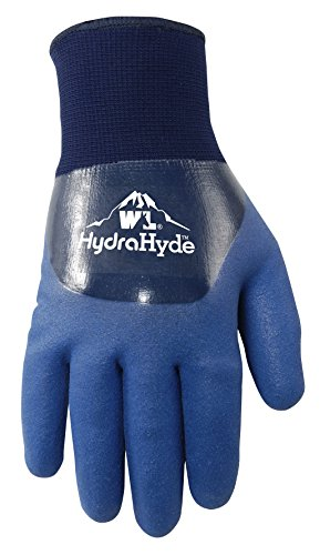 Mens HydraHyde Cold Weather Work Gloves, Water-Resistant Latex Double Coating, Large (Wells Lamont 575L)