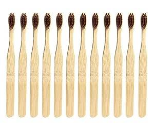 Cepillo de dientes de bambú ecológico, de madera natural. Cepillo ...