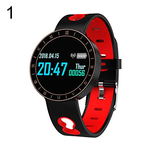 Lightclub A8 Waterproof Heart Rate Monitor Fitness Sports Smart Watch for iOS Android - Black Red