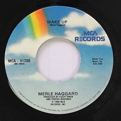 Way Records 45 Rpm (Merle Haggard 45 RPM Wake Up / The Way I Am)