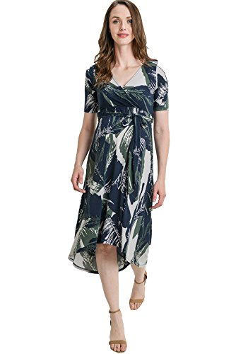 Hello MIZ Women's Floral High-Low Surplice Wrap Nursing and