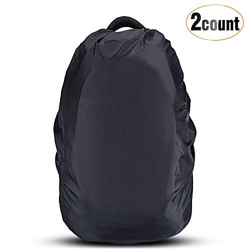 AGPTEK 2-Pack Nylon Waterproof Backpack Rain Cover for Hiking /Camping /Traveling /Outdoor Activities, Black,Size - Backpack Rain