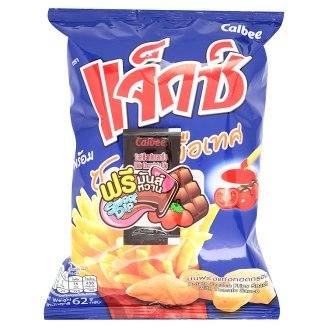 potato sticks and tomato sauce from Thailand , Size 62 g , Pack 3
