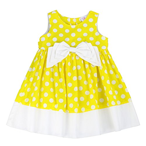 The Silly Sissy - Toddlers and Girls Bow-TER-Fly Dress | Paige Parson's Polka Dots in Bright Yellow 5 (Best Lemonade In Los Angeles)
