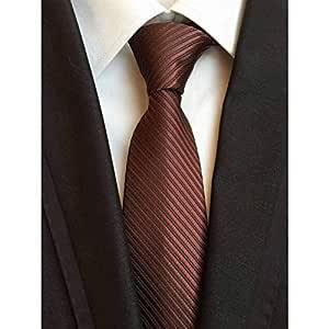IG Corbata de moda Nueva raya clásica Corbatas de seda coloridas ...