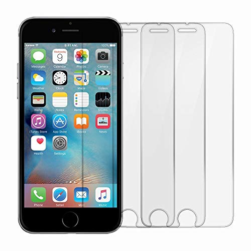 TANTEK LLL57 HD Ultra Clear 3D Touch Tempered Glass Screen Protector for Apple iPhone 6/6S - 3 Piece