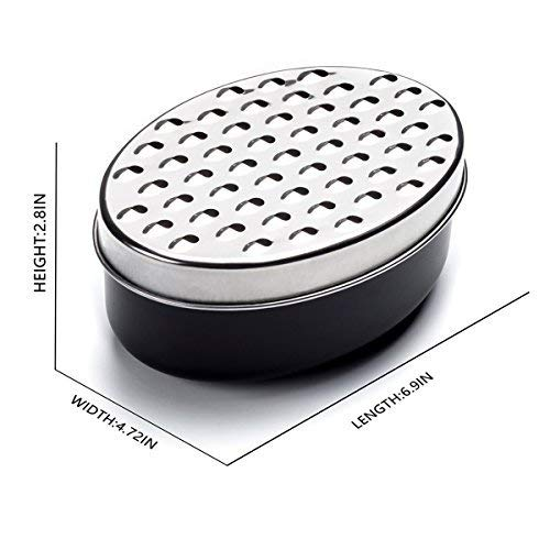 Cheese Grater Stainless Steel Kitchen Grater with Container Box Storage for Vegetables, Veggies, Potato, Fruits, Ginger, Food - BPA-Free Kitchen Cutting Tool Shredder