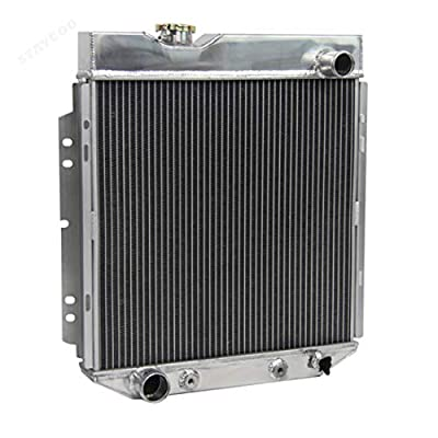 "STAYCOO 3 Row Aluminum Radiator +14"" Fan w/Shroud for 1960-1966 Ford Mecury Models, Falcon/Ranchero/Mustang/Comet V8 SWAP: Automotive"