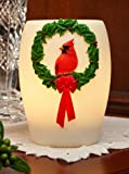 Red Cardinal Wreath Night Lamp – Ibis and Orchid Lamp Collection For Sale