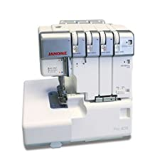 Janome Pro4DX Heavy-Duty Overlock Serger, with Easy Self Threading Lower Looper, Differential Feed, 2 needle, 2/3/4 Thread Overlock Stitching