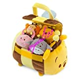 Cute Tsum Tsum Large HONEYBEE Winnie the Pooh Satchel + 4 Tiny Toys