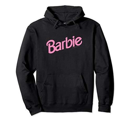 Barbie Pink Logo Pullover Hoodie -