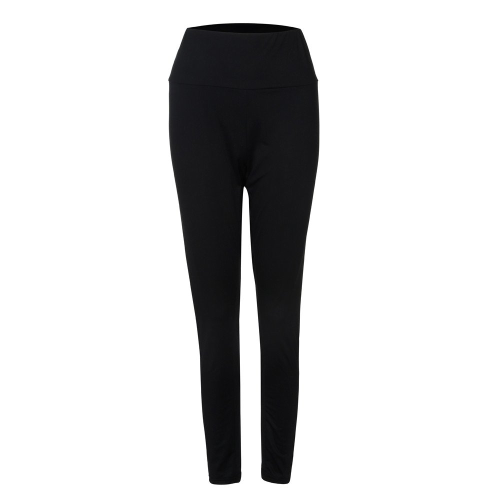 Jhualeek Women's Fashion Large Size Sexy Leggings Trousers Yoga Sports Casual Pants (XL, Black)
