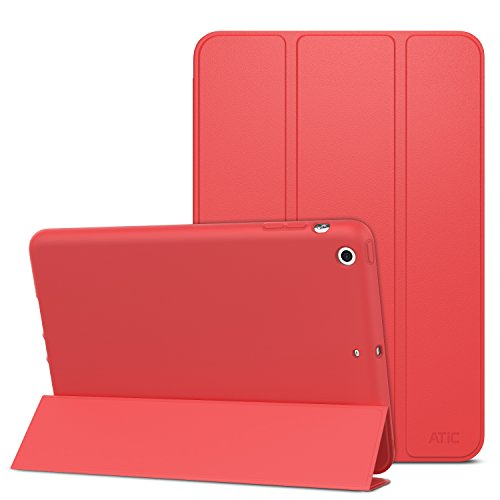 Super Slim Smart Leather Cover Case for Apple iPad Air 2 - Red - 2