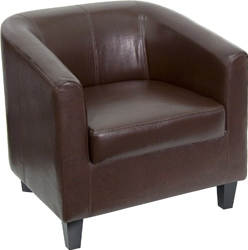 (Flash Furniture Brown Leather Lounge Chair)