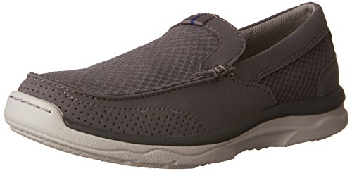 CLARKS Men's Marus Step Grey Synthetic 11 D US Clarks Moccasin