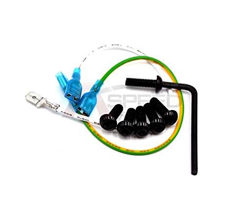 (AutoE 6pcs Burnt Titanium Black Round Steering Wheel Bolts Screw Kit for Nardi for Momo NRG Works Bell Boss)