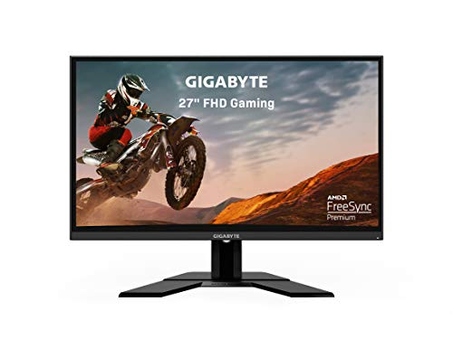 "Gigabyte G27F 27"" 144Hz 1080P Gaming Monitor, 1920 x 1080 IPS Display, 1ms (MPRT) Response Time, 95% DCI-P3, FreeSync Premium, 1x Display Port 1.2, 2x HDMI 1.4, 2x USB 3.0, BLACK (G27F-SA)"