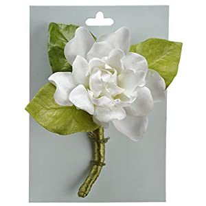 5″ Gardenia Silk Flower Corsage -White (Pack of 4)