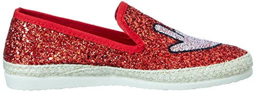 I love Femme candies Rouge I Mocassins Glitter 700 Red love UqxETw5