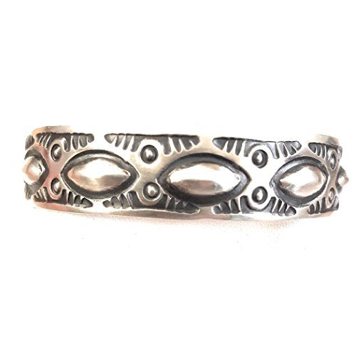 Nizhoni Traders LLC Nora Bill Sterling Silver Navajo Hand Made Cuff Bracelet Signed from Nizhoni Traders LLC