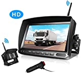 Digital Wireless Backup Camera and 7 Inch Monitor Kit HD IP69K Waterproof Front Rear View Camera for Car/Trucks/RV/Van/Trailer/Bus/Camper URVOLAX 170°Wide View Angle Super Night Vision Stable Signal