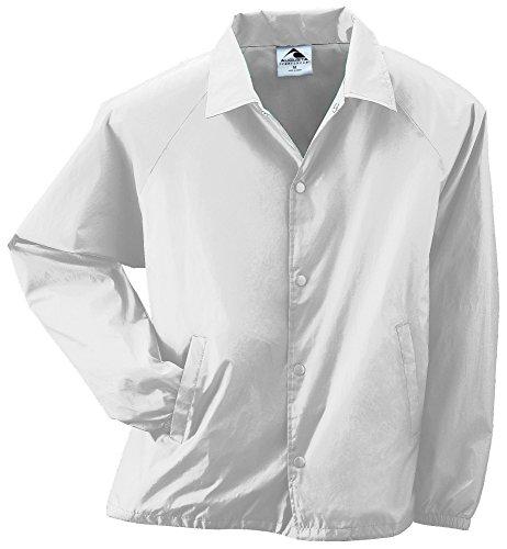 - Augusta Sportswear Unisex-Adult Nylon Coach's Jacket/Lined, White, Large