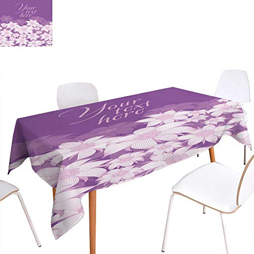Dinning Tabletop Decoration Frame flower Background of flowers for a poster invitation postcard photo frame packing paper On a violet background white flowers of edelweRectangle/Oblong W 52