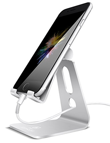 Adjustable cell phone stand, Lamicall iPhone Stand : [UPDATE VERSION] Cradle, Dock,...