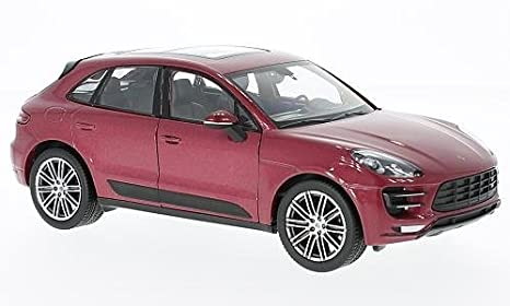 Porsche Macan Turbo, metallic-red, 0, Model Car, Ready-made