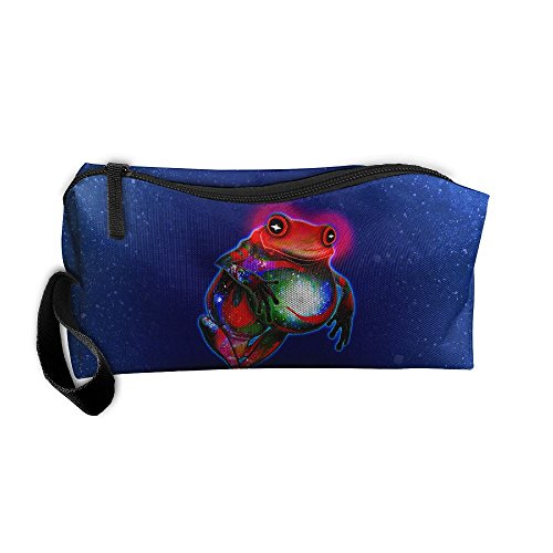 Kla Ju Portable Pencil Bag Purse Pouch Frog Artwork Stationery Storage Organizer Cosmetic ()