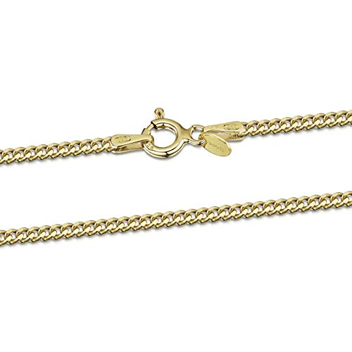 - Amberta 18K Gold Plated on 925 Sterling Silver 2 mm Curb Chain Necklace Length 20